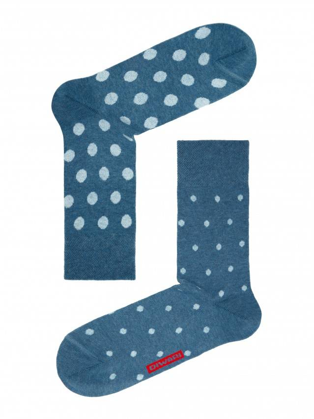 Skarpety męskie HAPPY, r. 25, 049 jeans-jasnobłękitny - 1