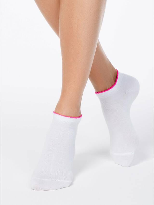 Skarpety damskie bawełniane ACTIVE (krótkie, z pikotem) 12С-45СП, r. 36-37, 041 biały - 1