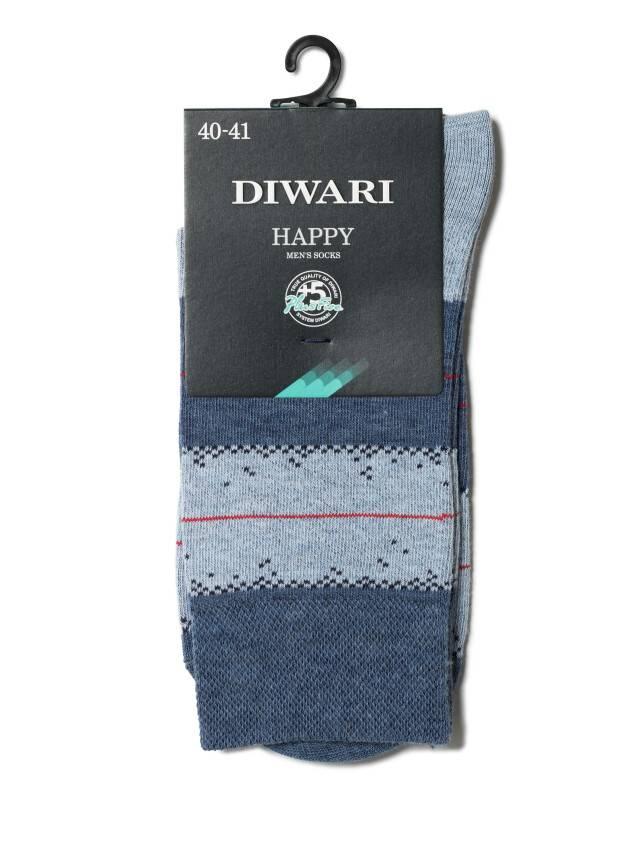Skarpety męskie HAPPY, r. 25, 047 jeans-jasnobłękitny - 2