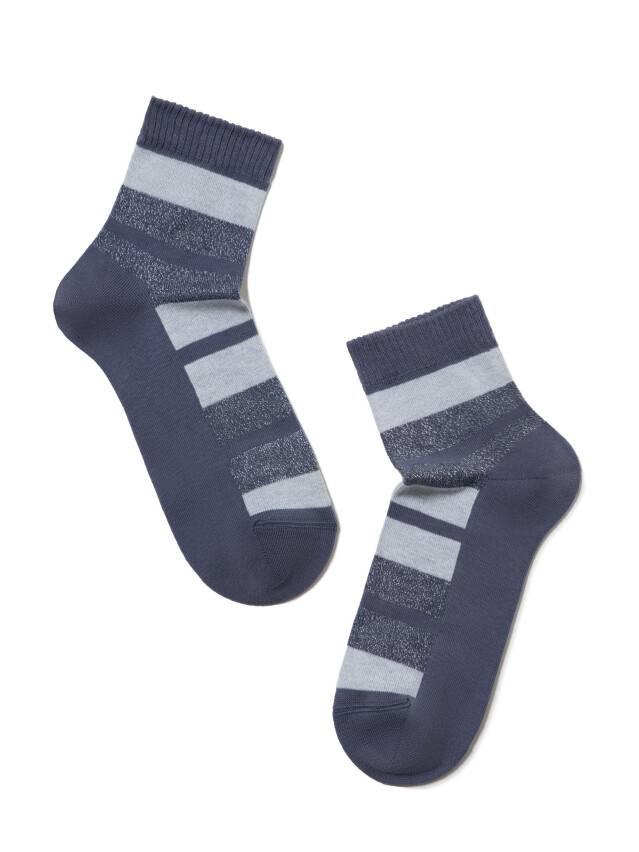 Skarpety damskie bawełniane CLASSIC (lureks) 16С-26СП, r.23, 082 ciemny jeans - 2