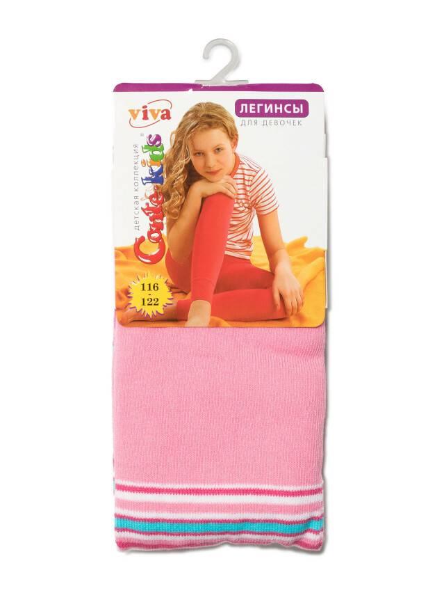 Legginsy dla dziewczynek VIVA, r. 116-122, 006 jasnoróżowy - 2