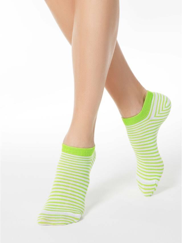Skarpety damskie ACTIVE, bawełna (ultra krótkie) 15С-46СП, r. 25, 073 biały-seledynowy - 1