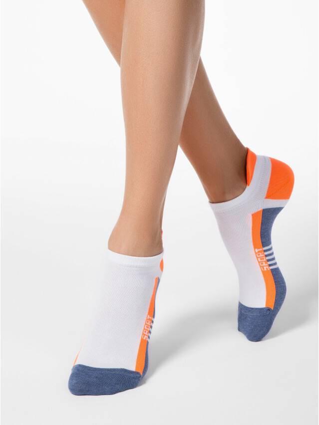 Skarpety damskie bawełniane ACTIVE (ultrakrótkie) 16С-71СП, r.23, 083 jeans-pomarańczowy - 1