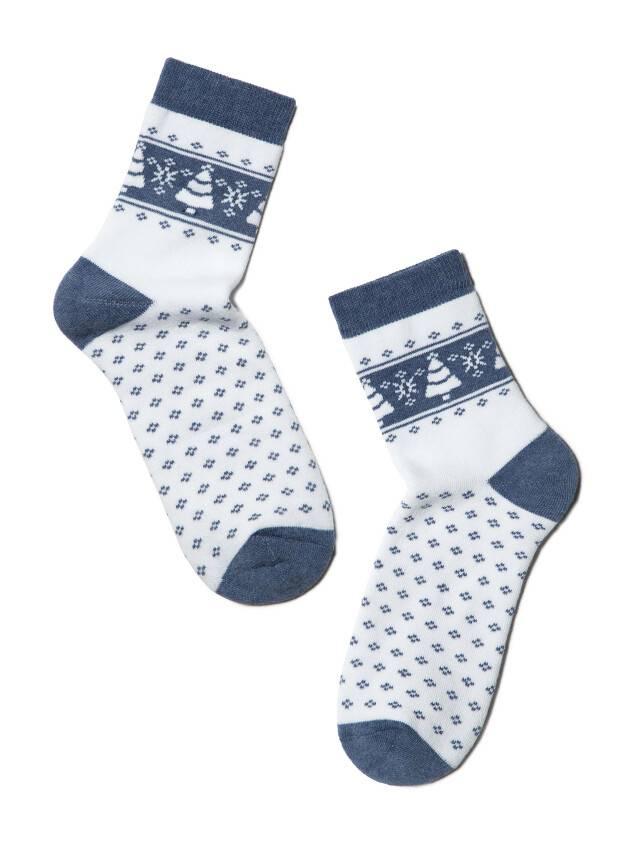 Skarpety damskie bawełna COMFORT (frotte),r. 23, 080 biały-jeans - 2