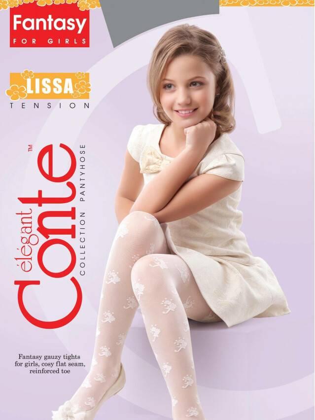 Rajstopy eleganckie dla dzieci LISSA, r. 104-110, natural - 2