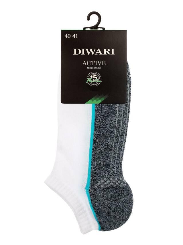 Skarpety męskie ACTIVE (ultrakrótkie) 15С-44СП, r.25, 044 biały-jeans - 2