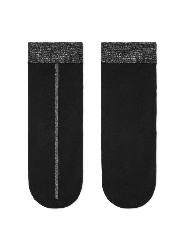 Skarpety poliamidowe damskie FANTASY (lurex) 16С-125СП, r. 23-25, nero - 3