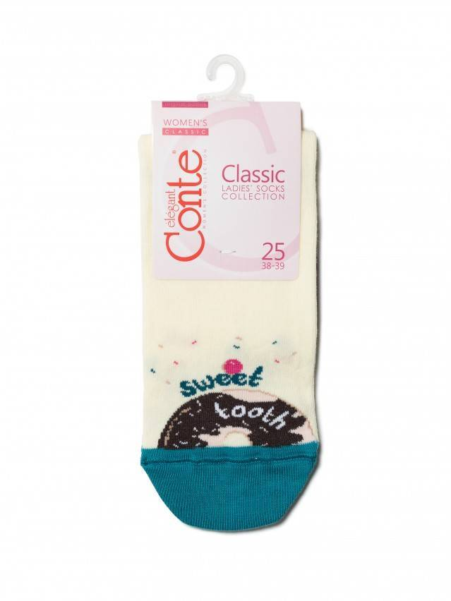 Skarpety damskie CONTE ELEGANT CLASSIC, r.23, 115 kremowy - 3