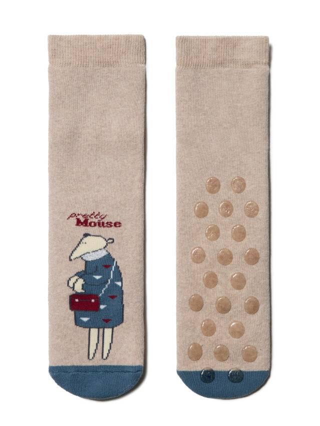 Skarpety damskie bawełniane HAPPY (frotte, antypoślizgowe) 17С-44СП, r.23, 295 beżowy - 2