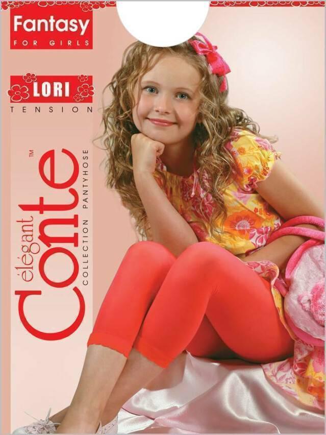 Legginsy dla dziewczynek LORI, r. 128-134, rosso - 1