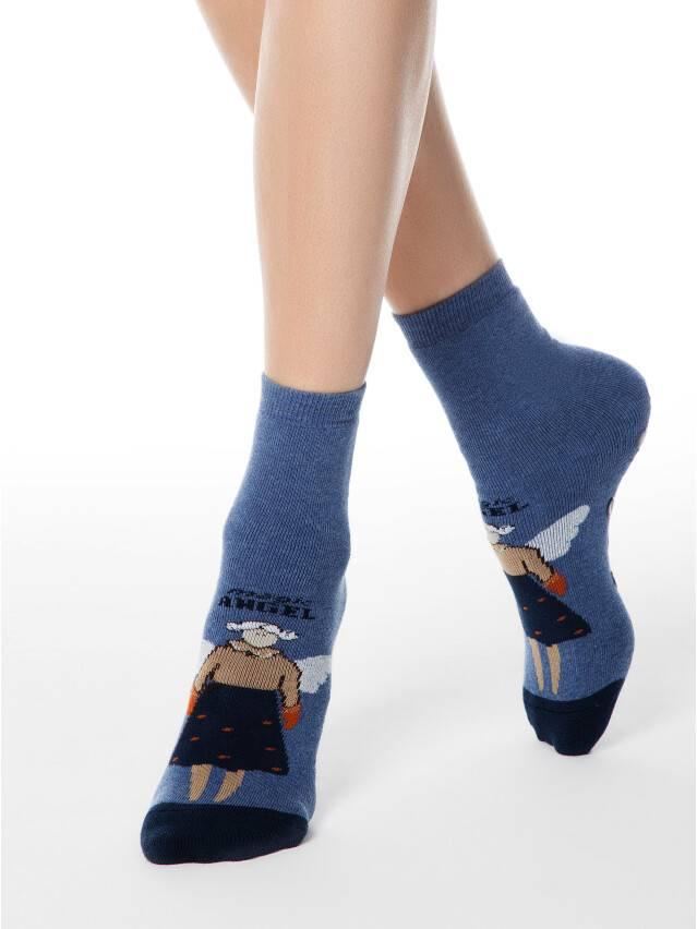 Skarpety damskie bawełniane HAPPY (frotte, antypoślizgowe),r.23, 291 jeans - 1