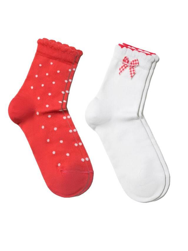 Skarpety dziecięce TIP-TOP (2 pary) 7С-90СП, 7С-100СП, r. 12, 705 biały-czerwony - 1