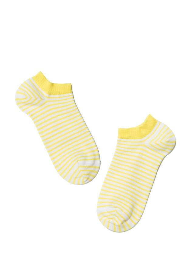 Skarpety damskie ACTIVE, bawełna (ultra krótkie) 15С-46СП, r. 25, 073 biały-żółty - 2