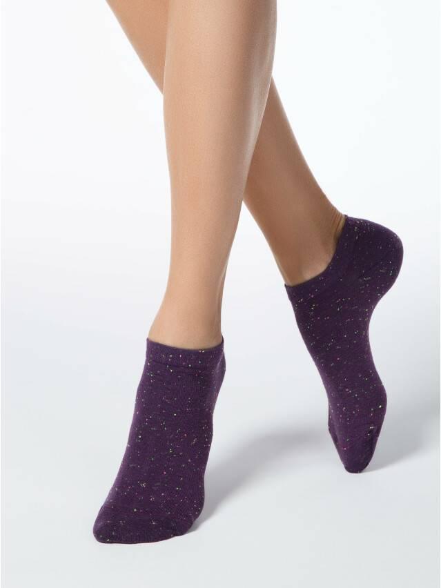 Skarpety damskie bawełna ACTIVE (ultrakrótkie, pixels) 16С-62СП, r.23, 085 bakłażan - 1