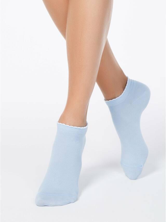 Skarpety damskie bawełniane ACTIVE (krótkie, z pikotem) 12С-45СП, r. 23, 041 błękitny - 1
