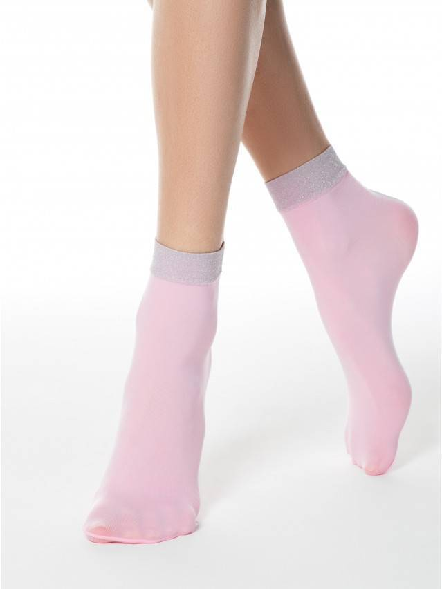 Skarpetki damskie poliamidowe FANTASY (lurex) 16С-125СП, r. 36-39, light pink - 1