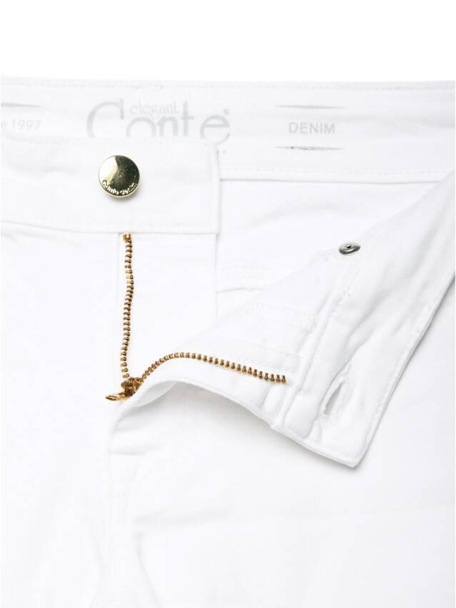 Spodnie denim CONTE ELEGANT CON-128, r.170-102, biały - 8