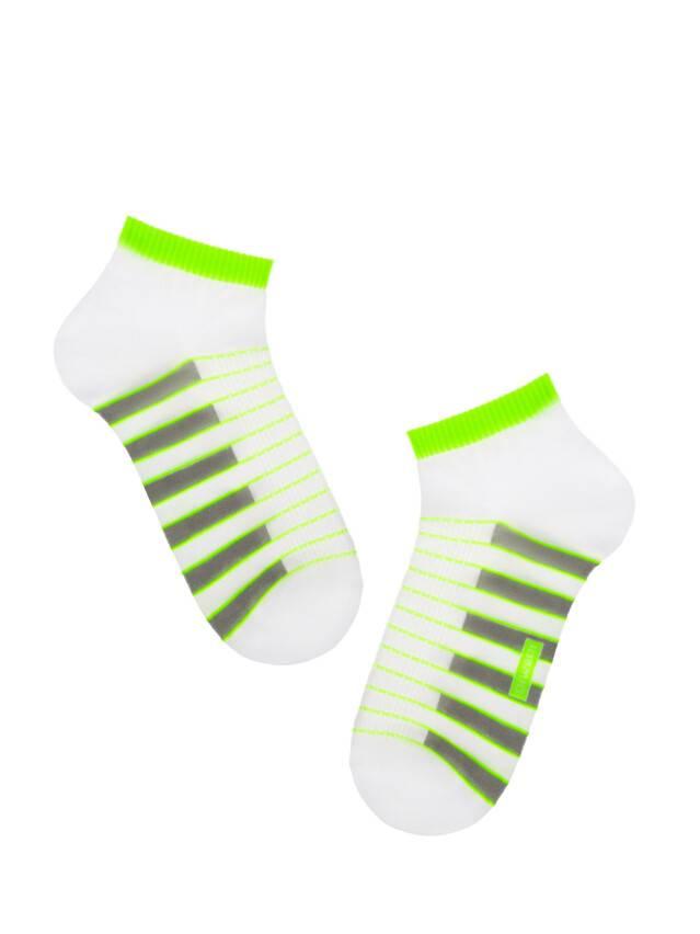 Skarpety męskie ACTIVE (krótkie),r. 25, 067 biały-seledynowy - 1