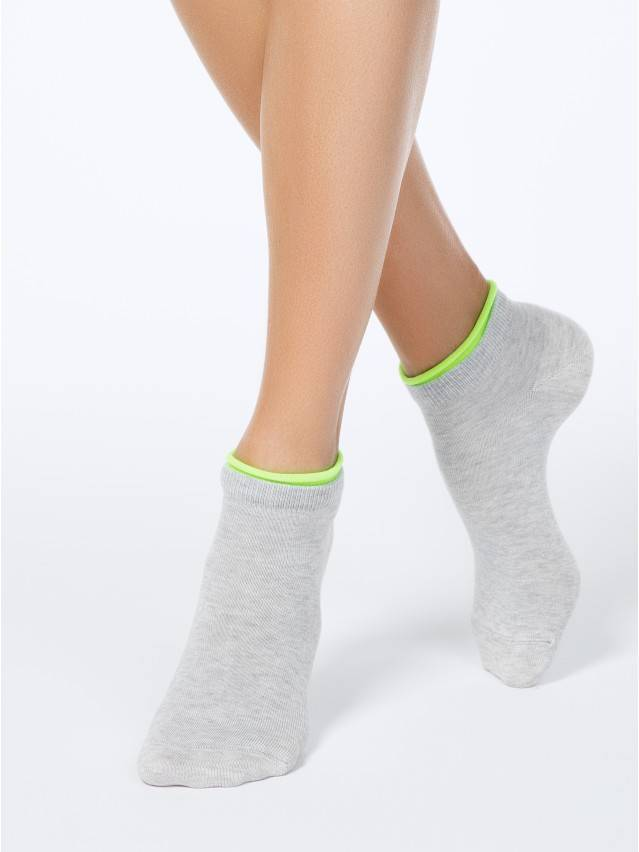 Skarpety damskie bawełniane ACTIVE (dekoracyjna gumka) 12С-32СП, r. 36-37, 035 jasnoszary - 1