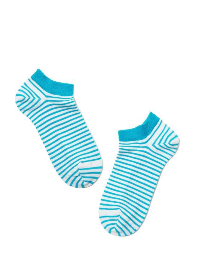 Skarpety damskie ACTIVE, bawełna (ultra krótkie) 15С-46СП, r. 23, 073 biały-turkus - 2