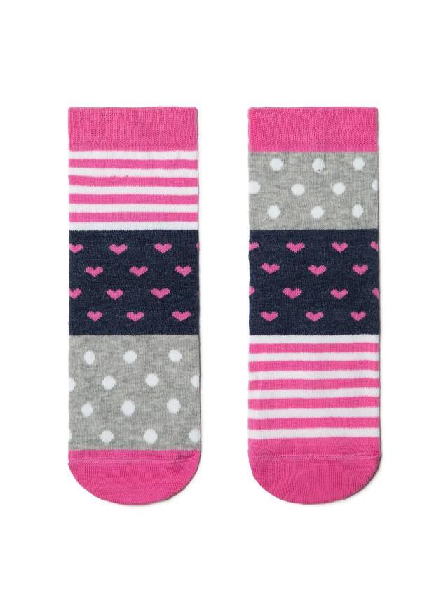Skarpetki dziecięce CONTE-KIDS CHEERFUL LEGS, r.16, 282 grey-pink - 1