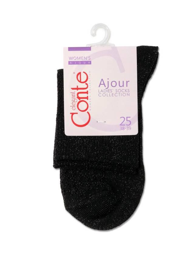 Носки женские вискозные AJOUR 19С-186СП, р.38-39, 180 черный - 3
