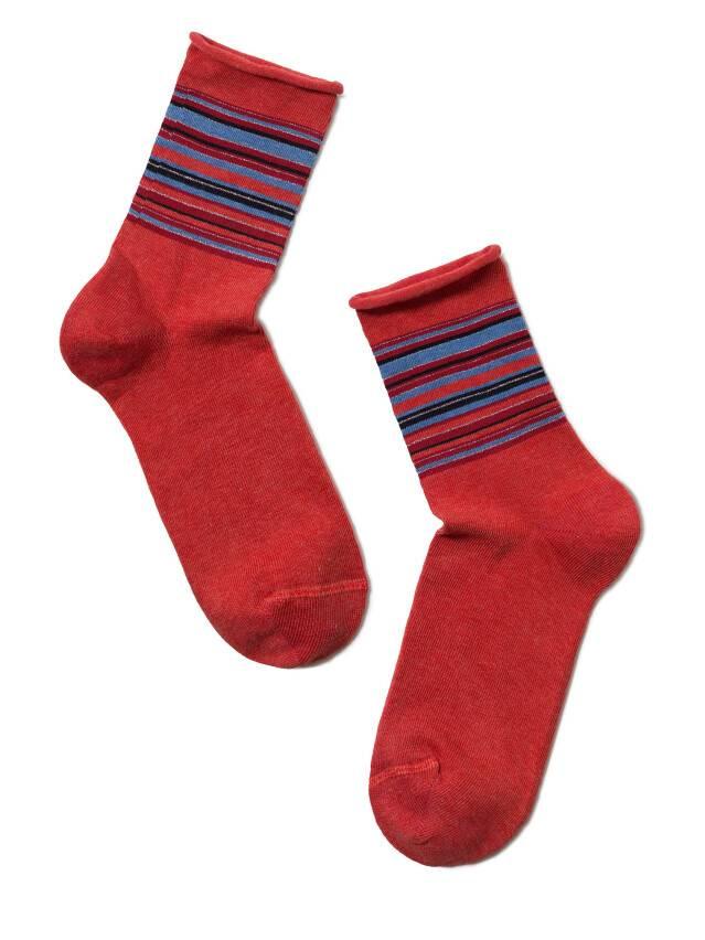 Skarpety damskie COMFORT, bawełna (bez gumki),r. 23, 027 czerwony - 2