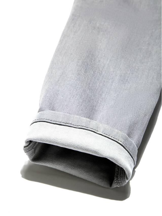 Spodnie denim CONTE ELEGANT CON-127, r.170-102, jasnoszare - 8