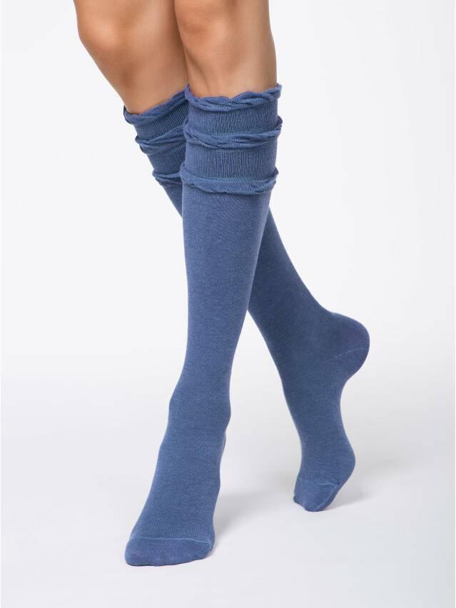 Podkolanówki damskie bawełniane COMFORT(dekor. gumka),r. 23, 002 jeans - 1