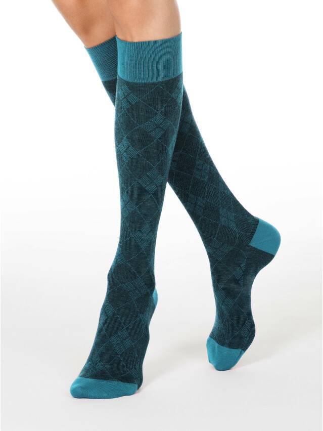 Podkolanówki damskie bawełniane CLASSIC, r. 23, 003 ciemnoturkusowy - 1