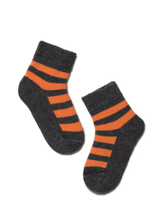 Skarpety dziecięce SOF-TIKI 7С-46СП, r. 10, 210 ciemnoszary-pomarańczowy - 1