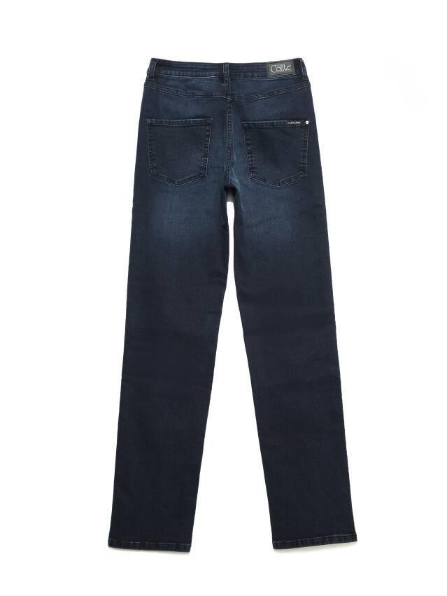 Джинсы straight с высокой посадкой CON-156, р.170-102, blue-black - 4