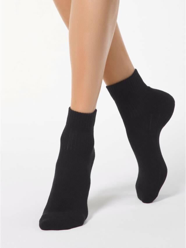 Skarpety damskie bawełniane ACTIVE (stopa frotte) 7С-56СП, r. 23, 026 czarny - 1