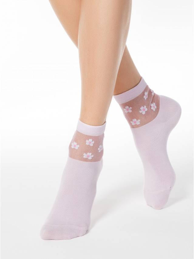 Skarpety damskie bawełniane CLASSIC (rete) 16С-83СП, r.23, 084 jasnoróżowy - 1