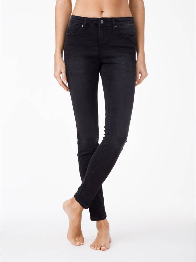 Spodnie jeansowe damskie CONTE ELEGANT 2992/4939, r.170-102, czarny - 2