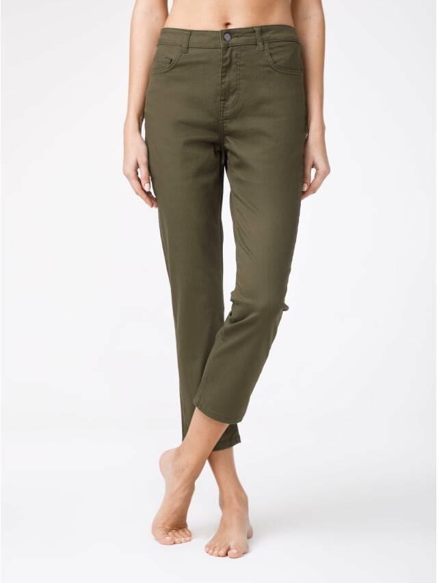 Spodnie denim CONTE ELEGANT CON-139A, r.170-94, khaki - 1