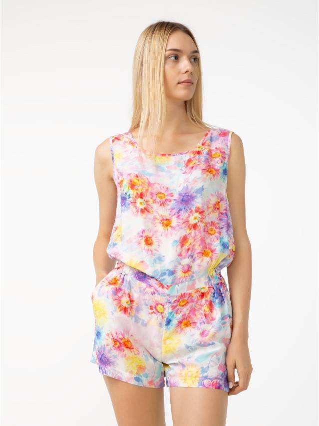 Kombinezon damski LISSA, r. 164-84-92, floral-white - 3