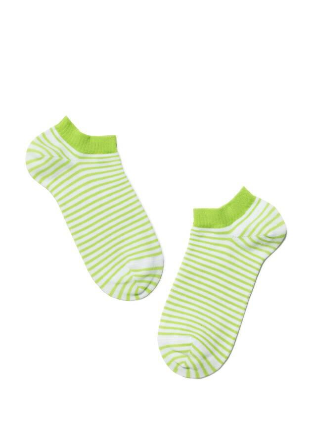 Skarpety damskie ACTIVE, bawełna (ultra krótkie) 15С-46СП, r. 25, 073 biały-seledynowy - 2