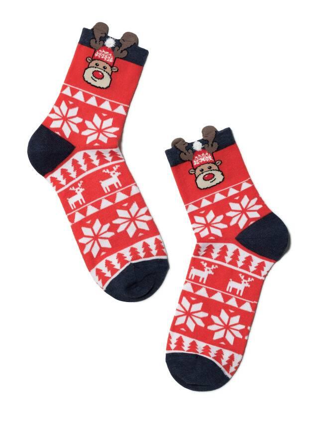 Skarpetki świąteczne damskie r.23-25, 445 czerwony - 2