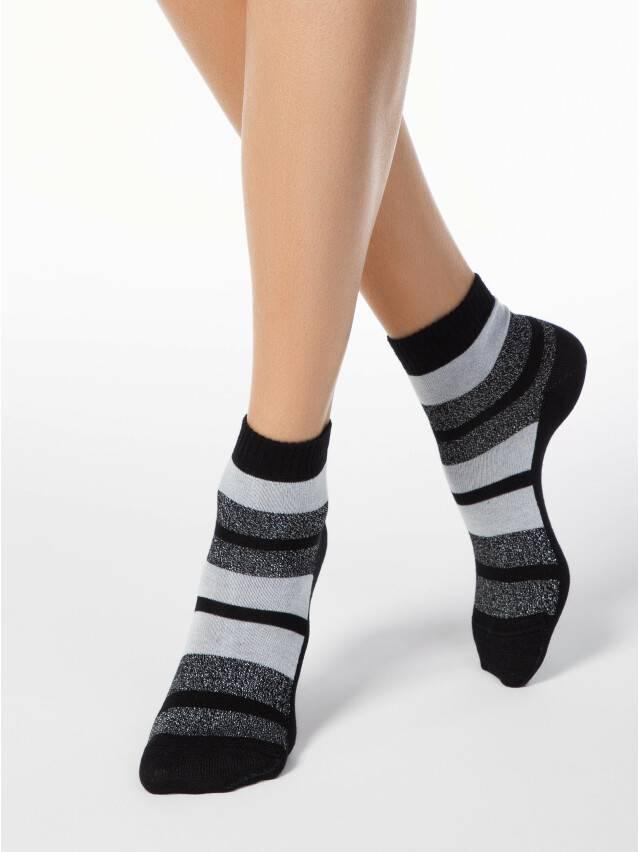 Skarpety damskie bawełniane CLASSIC (lureks) 16С-26СП, r.23, 082 czarny - 1