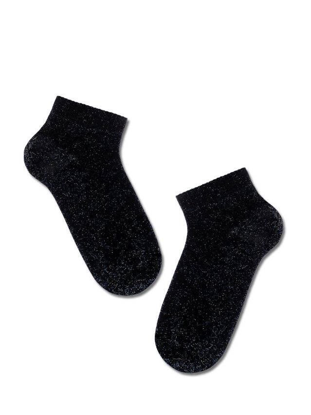Skarpetki damskie wiskozowe ACTIVE (krótkie, lurex) 18С-3СП, r.23, 000 czarny - 2