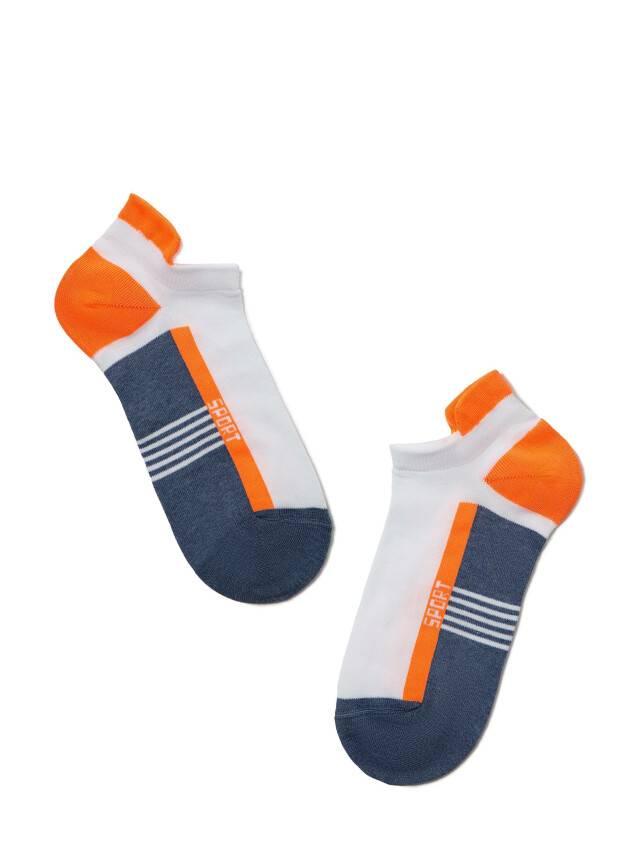 Skarpety męskie ACTIVE (ultrakrótkie) 16С-72СП, r.25, 083 jeans-pomarańczowy - 1