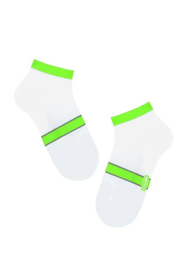 Skarpety męskie ACTIVE (krótkie),r. 25, 066 biały-seledynowy - 1