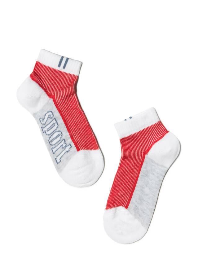 Skarpetki dziecięce CONTE KIDS ACTIVE (krótkie) 13С-34СП, r. 14, biało-czerwony, 309 - 1