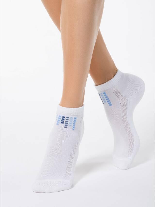 Skarpety damskie bawełniane ACTIVE(krótkie, stopa frotte) 7С-41СП, r. 23, 017 biały - 1