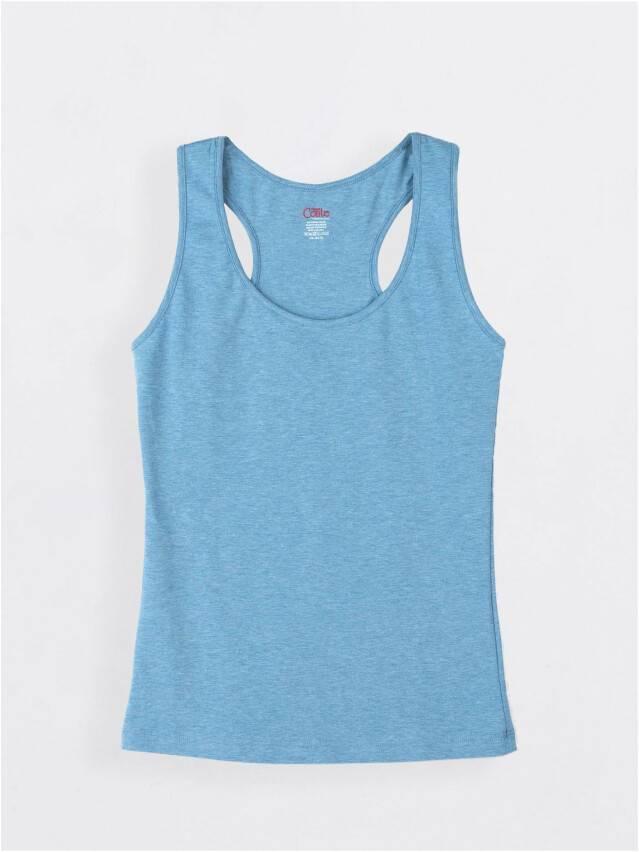 Koszulka damska BASIC LM 646, r. 170,176-92, niebieski melanż - 1