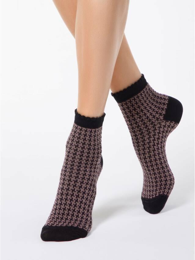 Skarpety damskie CLASSIC, bawełna (z pikotem) 14С-93СП, r. 23, 056 czarny-biały - 1
