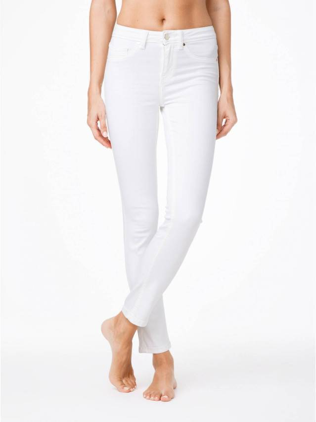 Spodnie denim CONTE ELEGANT CON-38L, r. 170-90, biały - 1
