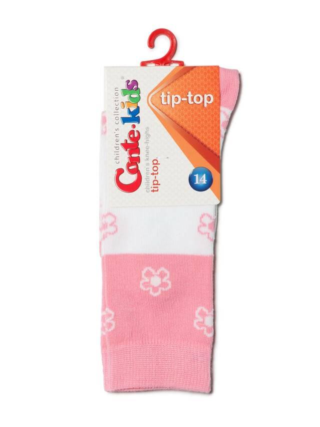 Podkolanówki dla dzieci TIP-TOP, r. 14, 041 biały-jasnoróżowy - 2