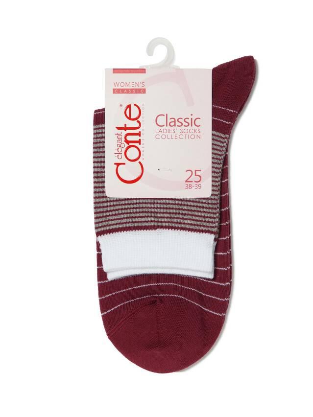 Skarpety damskie CLASSIC, bawełna 7С-22СП, r. 25, 058 liliowy - 3